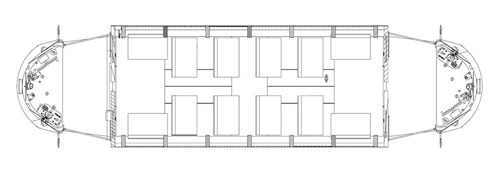 semi truck floor plans. Floor plan for the single truck  semi convertible enclosed trolley Gomaco Trolley Company Single Truck Semi Convertible Enclosed
